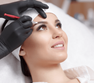 Microblading treatment for fuller eyebrows in Charlottesville, VA at Eyelid and Facial Aesthetics.
