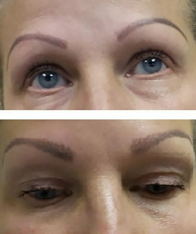 Microblading permanent eyebrows for a stylish and more natural shape